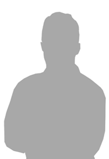 A gray silhouette of a man from the torso up