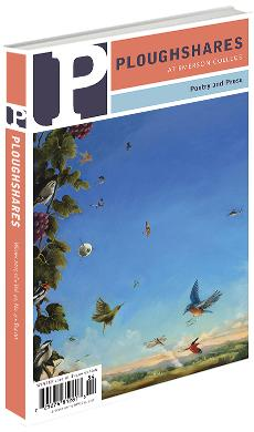 A journal cover of tropical birds flying in a bright blue sky and landing on a branch