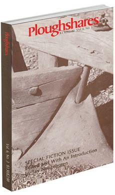 A journal cover with red text and a black and white image of wooden boards