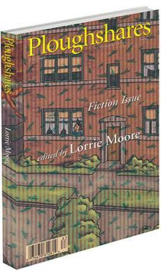 A journal cover with the drawing of a brick house and green leaves falling