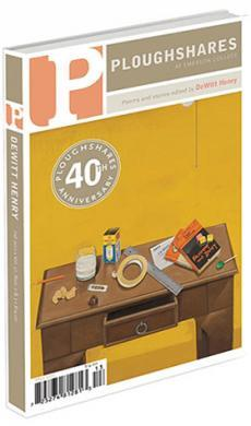 A journal cover: painted image of a wooden desk with office supplies sitting on top