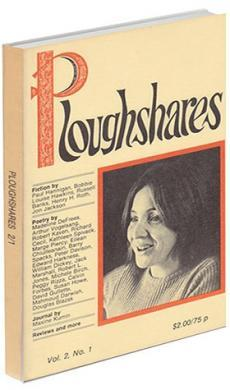 A journal cover of a black and white image of a white woman smiling