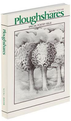 A journal cover with a black and white drawing of three trees