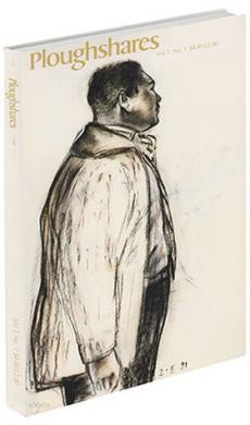 A journal cover of a charcoal drawing of a black man in profile
