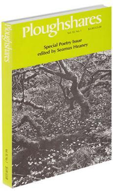 A journal cover: black and white image of bare trees with petals on the ground
