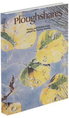 A journal cover of yellow-green leaves with water droplets on them and a blue sky