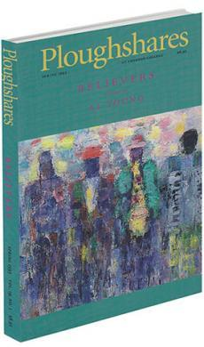 A journal cover with an abstract painting of people and a green background