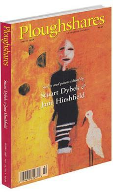 A journal cover of abstract artwork of a human and a bird with a orange and yellow background