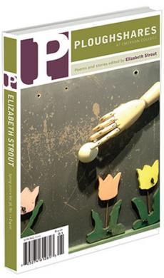 A journal cover of wooden tulips, a mannequin hand, and a small white call