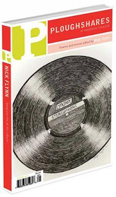 A journal cover with a black and white sketch of a music record