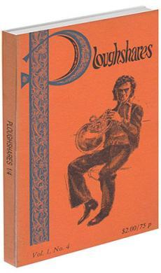 A journal cover with a orange background and a sketch of a man playing a horn