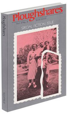 A journal cover with a torn pink-tinted picture of a family and a grey background