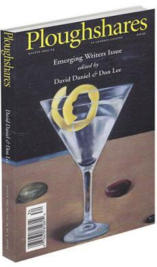 A journal cover with artwork of a martini with a lemon rind and stones atop a table