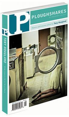 A journal cover with a photograph of a woman at a laundromat leaning into a washing machine