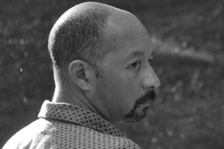 Carl Phillips, black and white, profile