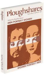 A journal cover of a man and a woman with a cut out of their eyes used twice