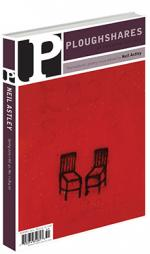 A journal cover with two black chairs drawn against a red background