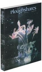 A journal cover of an abstract image of pink flowers in a green vase