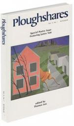 A journal cover: drawing of a deer jumping behind a house with a city in the background