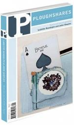 A journal cover with artwork of an ace playing card with a black stain on it